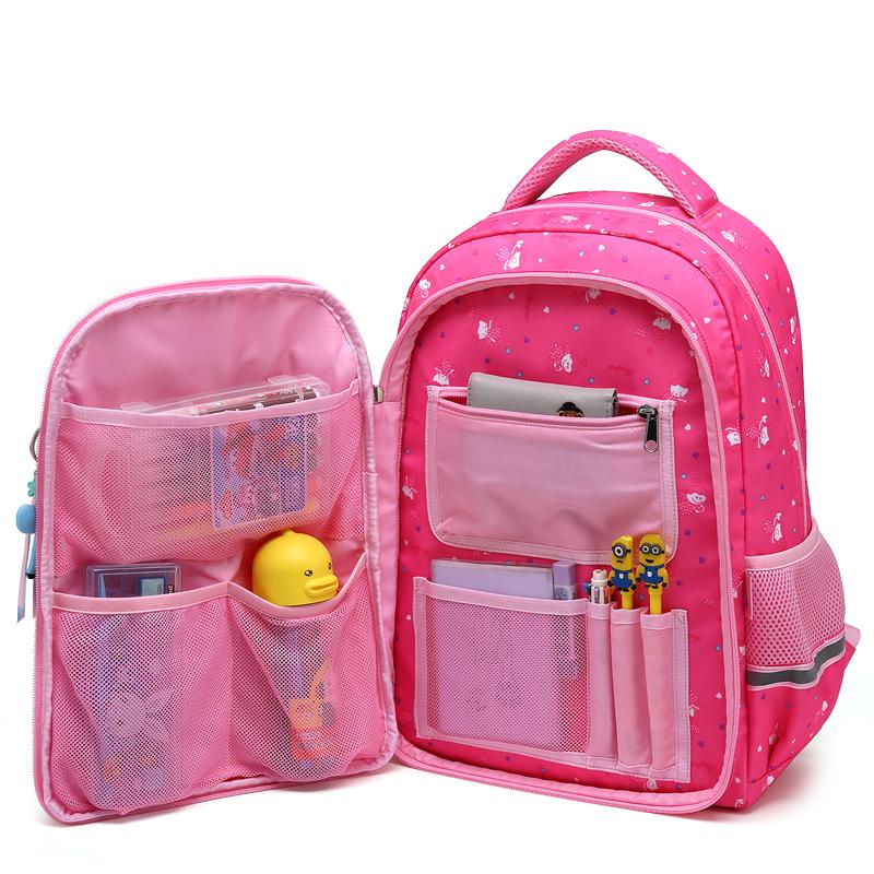 瑞牌小学生书包女孩1-3-6年级儿童书包6-12周岁一年级校园双肩包