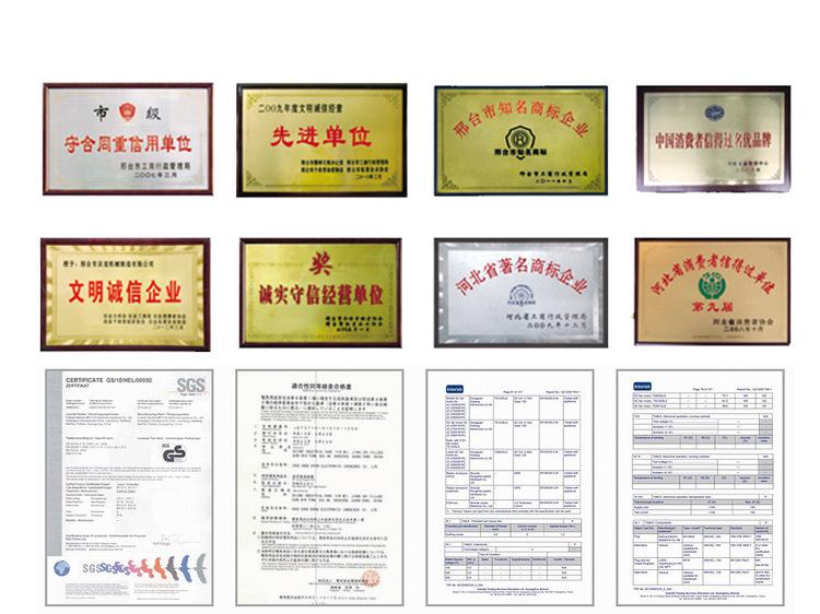 康正达110豪华型商用面條機厂家荣誉证书