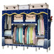 Cloth wardrobe thick steel reinforcement bold assembled Double simple wardrobe cloth hanging wardrobe storage cabinets entire steel frame