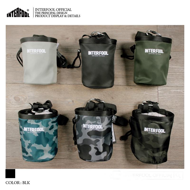 Вентилятор оригинального бренда INTERFOOL цвет Чистый цвет модные Маунтин альпинизм многофункциональный водонепроницаемый талия пакет вешать пакет Мешок из магниевого порошка