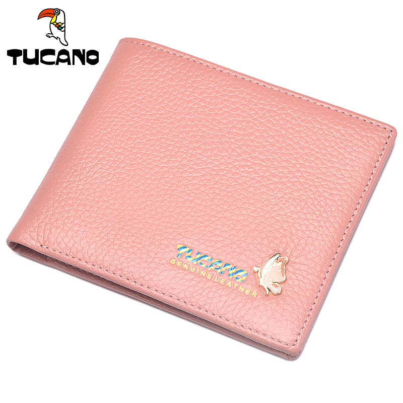 1fe97403787d Genuine woodpecker wallet female short paragraph Korean version of the  leather wallet students thin first layer of leather cute wallet