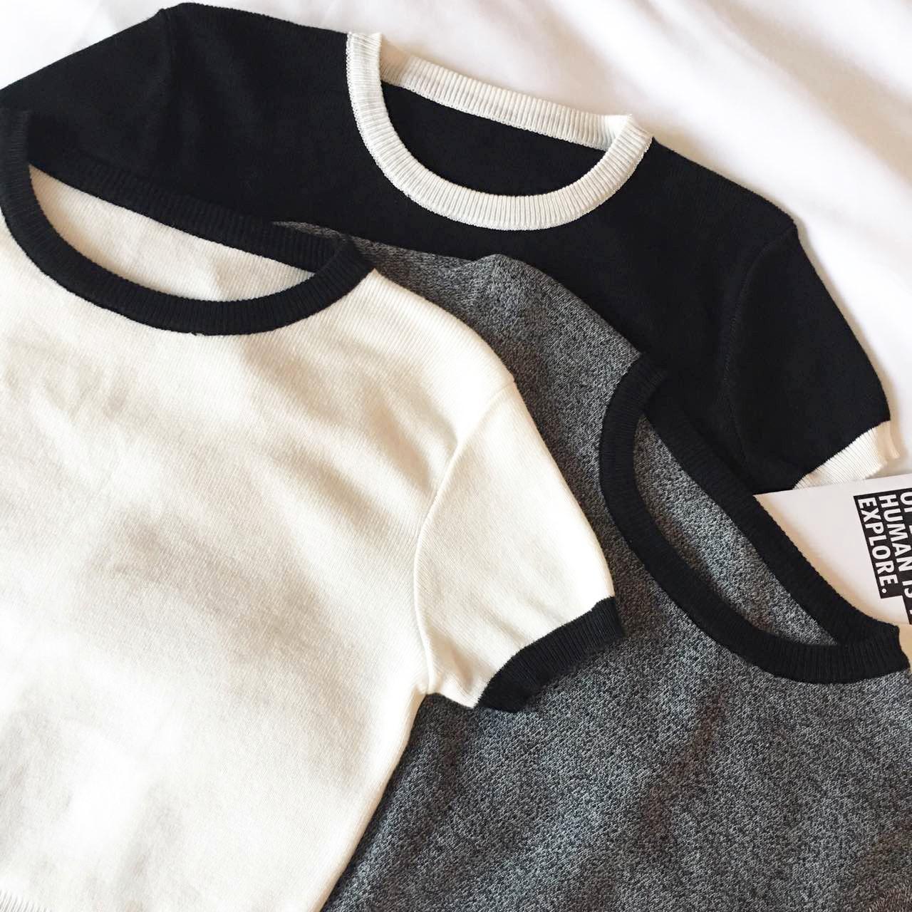 韩国紧身修身短款长袖T恤女夏秋款露腰短装露肚脐上衣 性感露脐装