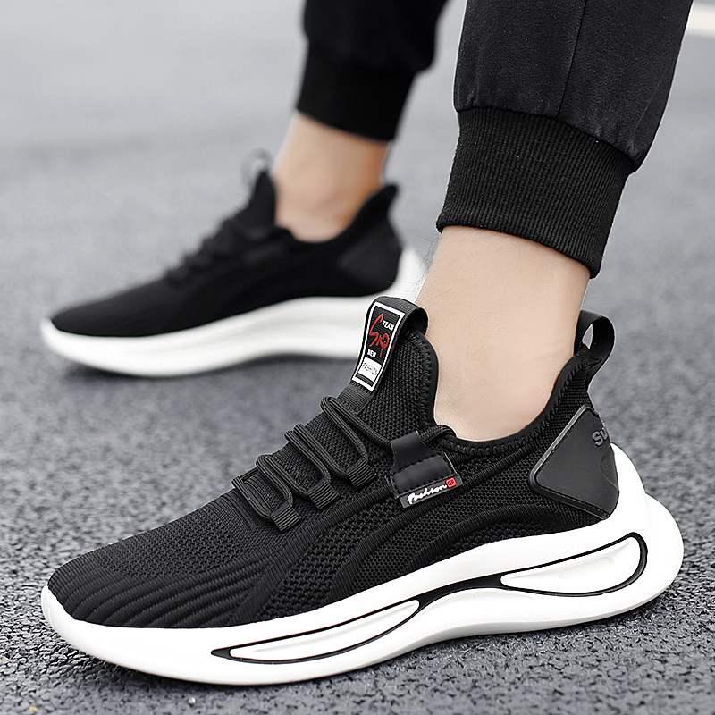 春夏季男士新款透气网面刀锋休闲运动跑步鞋
