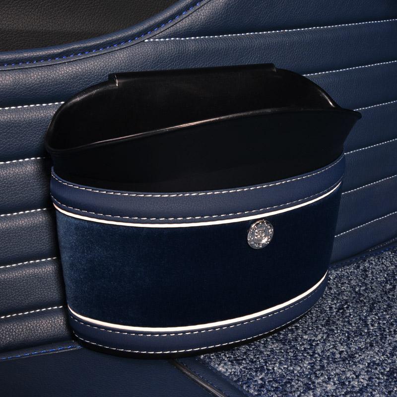 迷你车载垃圾桶 创意收纳盒大号悬挂式置物箱可爱 汽车内用垃圾箱