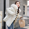 Real Shot Korea Dongdaemun Autumn And Winter Down Jacket Female Big Fur Collar Student Cotton Coat Cotton Jacket