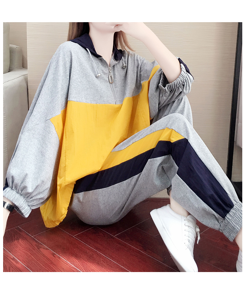 Tide brand early autumn sports suit women's 2020 new autumn fashion long-sleeved casual top trousers autumn two-piece set 54 Online shopping Bangladesh