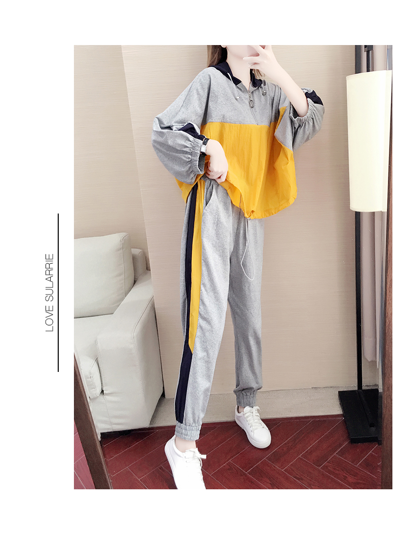 Tide brand early autumn sports suit women's 2020 new autumn fashion long-sleeved casual top trousers autumn two-piece set 58 Online shopping Bangladesh