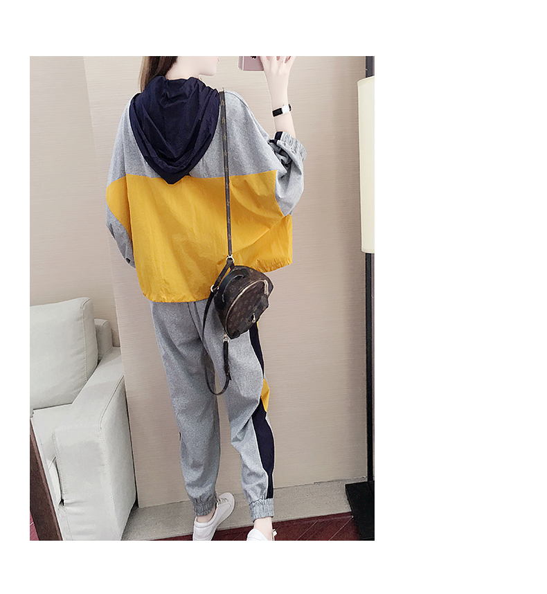 Tide brand early autumn sports suit women's 2020 new autumn fashion long-sleeved casual top trousers autumn two-piece set 63 Online shopping Bangladesh