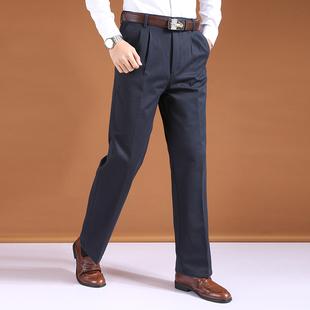 加绒加厚中老年男裤子50-60岁秋冬季宽松高腰爸爸男休闲长裤纯棉