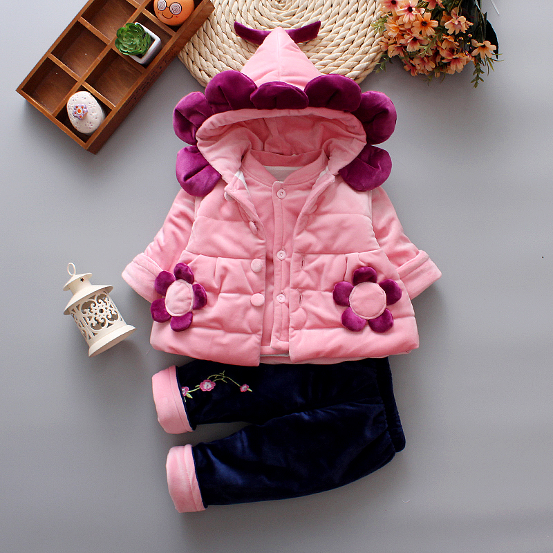 2bd7ce85ba41 USD 45.88  Girls   wear autumn and winter models 0-1-2 years old ...