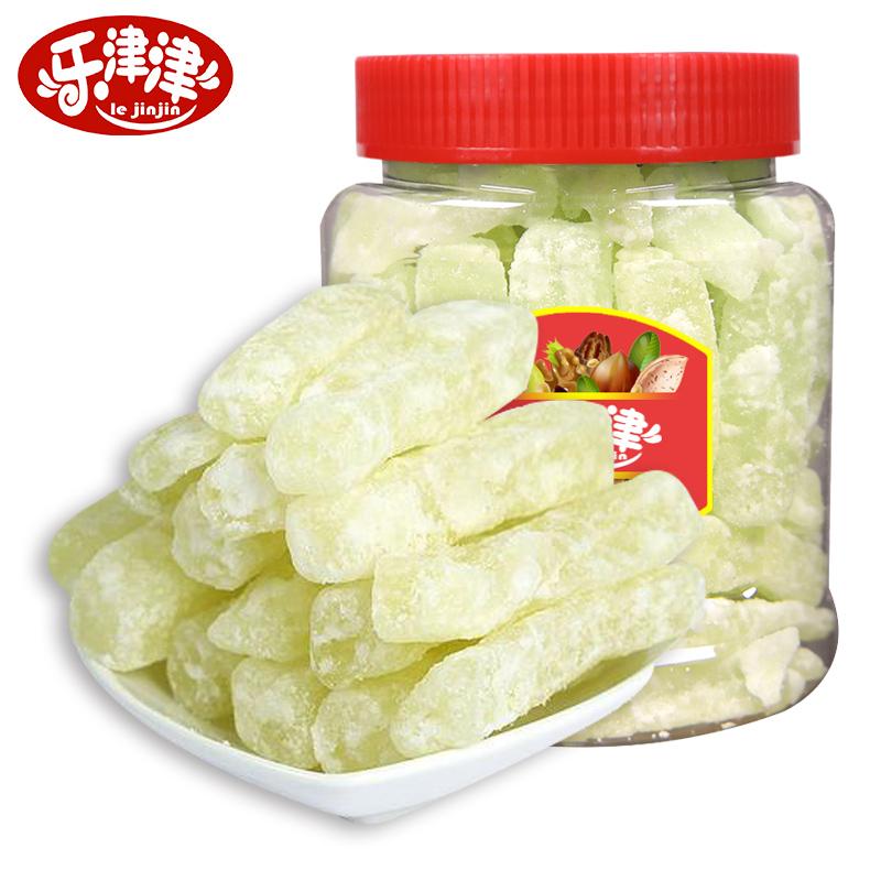 乐津津冬瓜糖500g传统老式果脯类蜜饯罐装烘焙原料办公室休闲零食
