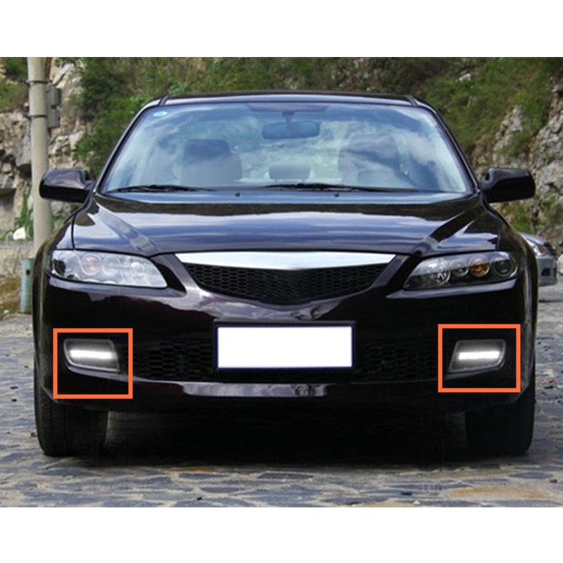 2pcs White LED Daytime Running Light DRL Fog Lamp For