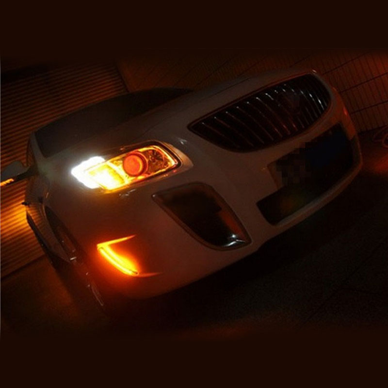 Buick Regal Gs For Sale: 2PCS White Turn Yellow LED Daytime Running Lamp For Buick