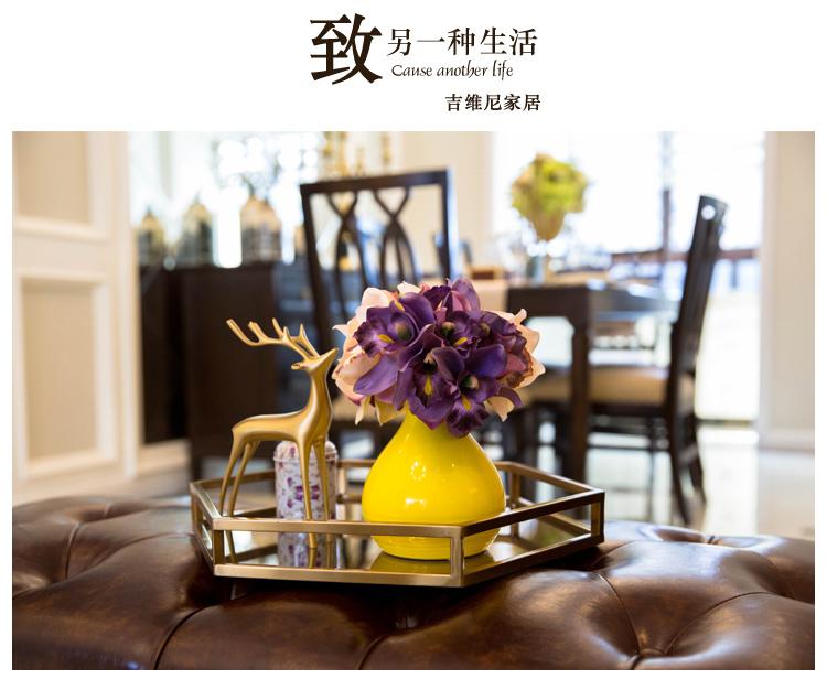〖洋碼頭〗陶瓷花瓶小擺件客廳書房創意酒櫃美式現代新中式樣板間家居裝飾品 jwn235