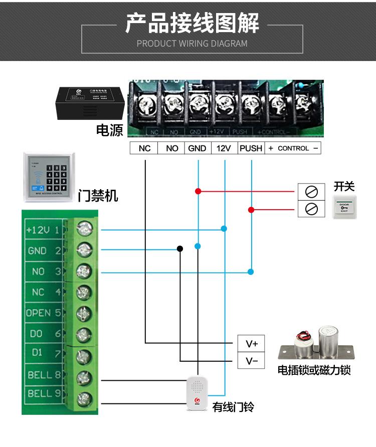嵌入式电插锁,迷你小电插锁,暗装电插锁(图10)