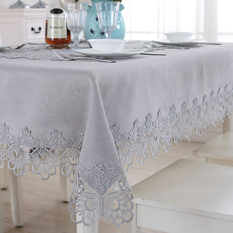 Pleasing Thai Embroidery European Solid Color Lace Tablecloth Simple Cloth Table Cloth Coffee Table Tablecloth Bedside Table Shoe Cabinet Cover Cloth Download Free Architecture Designs Scobabritishbridgeorg