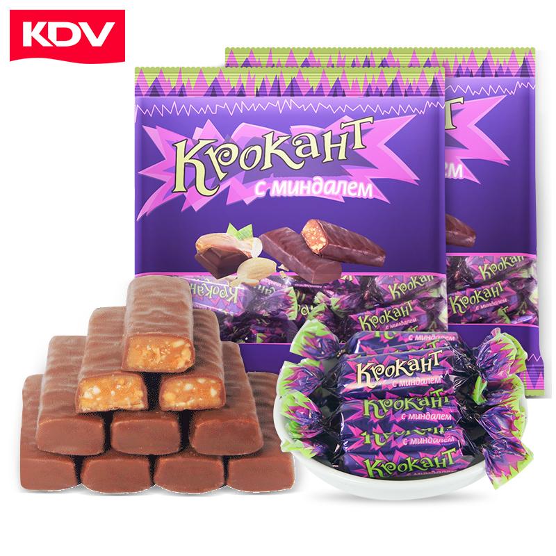 俄罗斯糖果原装进口正品KDV紫皮糖巧克力结婚散装网红零食小吃