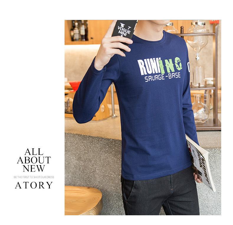 高仿巴宝莉Burberry长袖T恤青少年圆领印花潮男装纯棉体恤上衣UTQ949 第15张