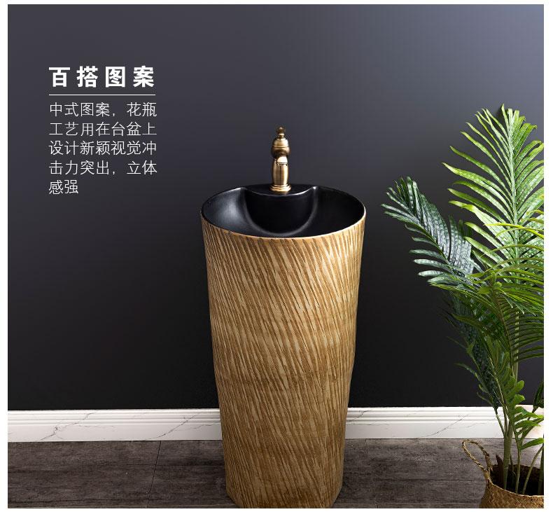 Ceramic basin floor balcony is suing the lavatory retro column pillar household toilet lavabo is 15
