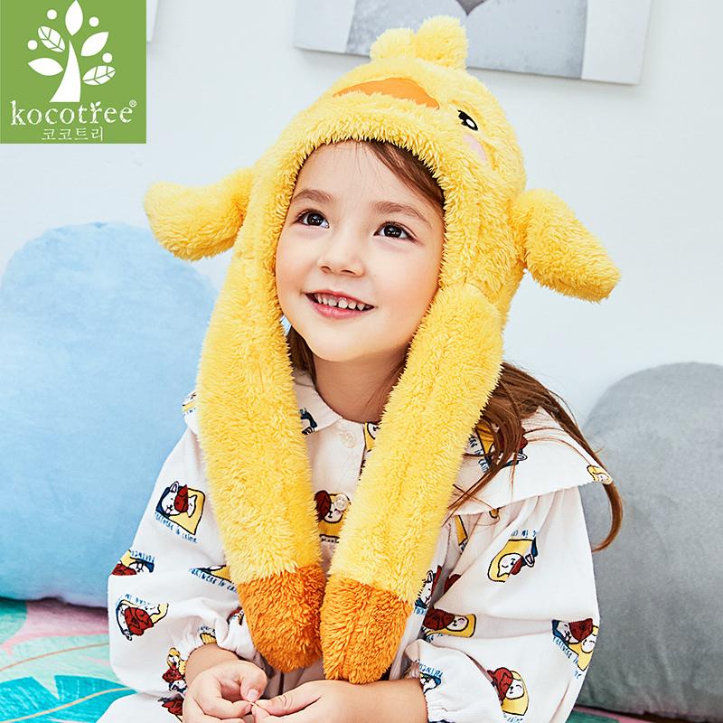 儿童帽子秋冬季韩版男女童宝宝护耳可爱保暖婴幼儿婴儿围脖一体帽
