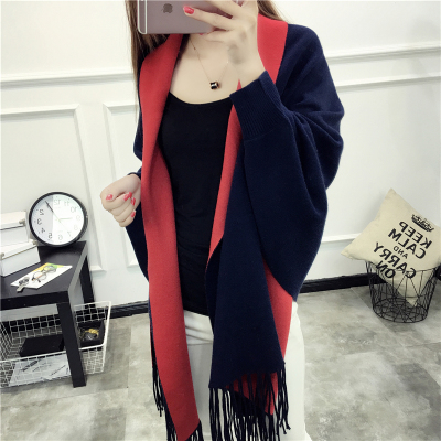 Navy blue + red
