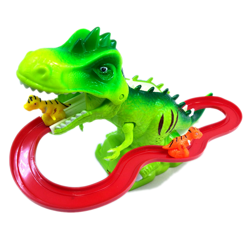 Children Dinosaur Slide Electric Train Track Car Stair Climbing Toy 4 Track  Boys and Women Stair Males 1-6 Years Old