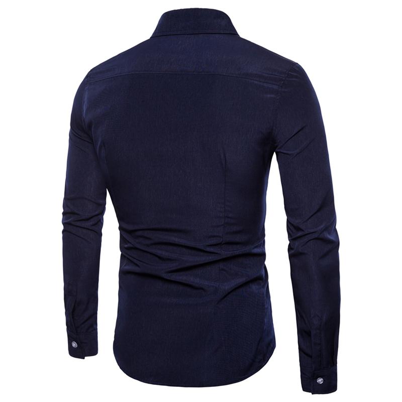 速卖通WISH外贸男士宫廷风时尚剪裁长袖衬衫DC70-P25