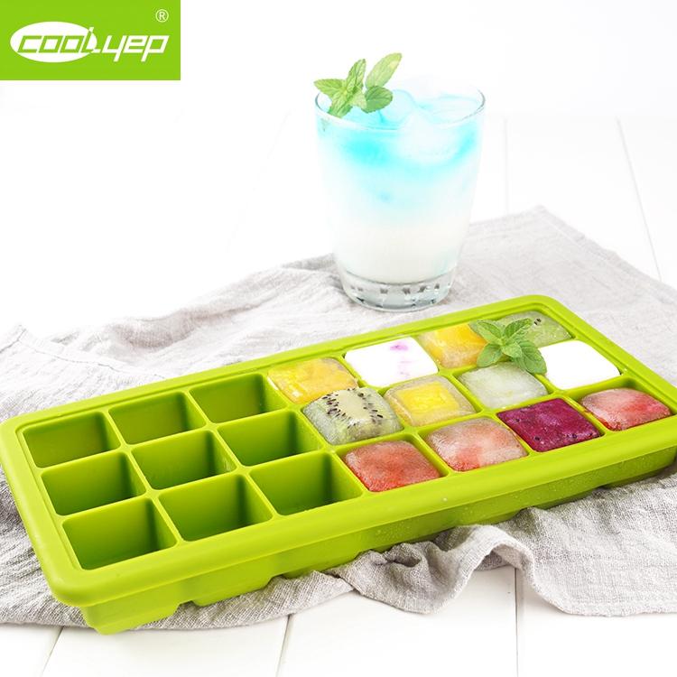 英国酷易 冰块盒制冰盒冻冰块模具硅胶冰格家用带盖冷冻盒辅食盒_天猫超市优惠券