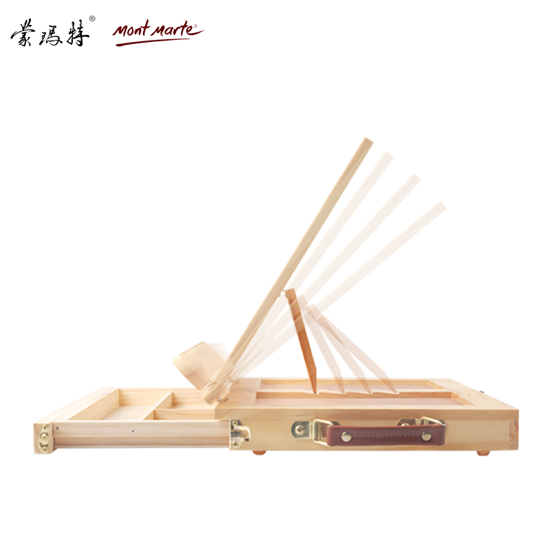 Desktop benche wooden oil painting frame box Beginners describe the raw  easel drawing board set folding multi-functional easel easel easel easel