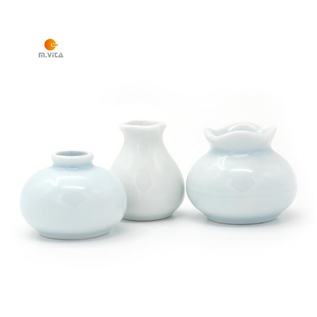 蒙生教育 日常生活工作 插花工作 陶瓷花瓶 迷你花瓶 3件套