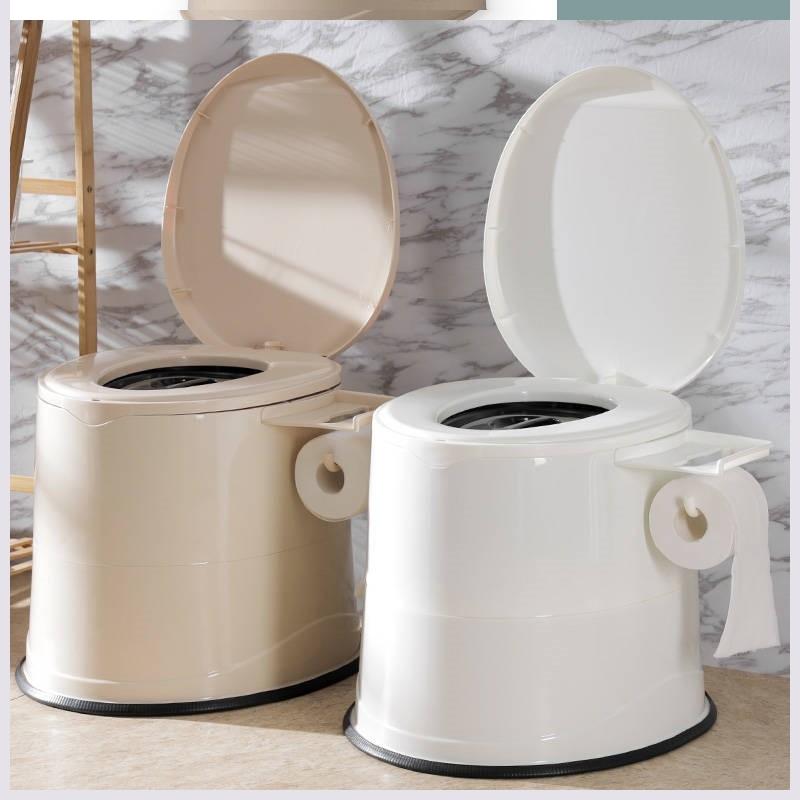 移动马桶老年人孕妇坐便器便携成人坐便椅塑料座便器内痰盂家用