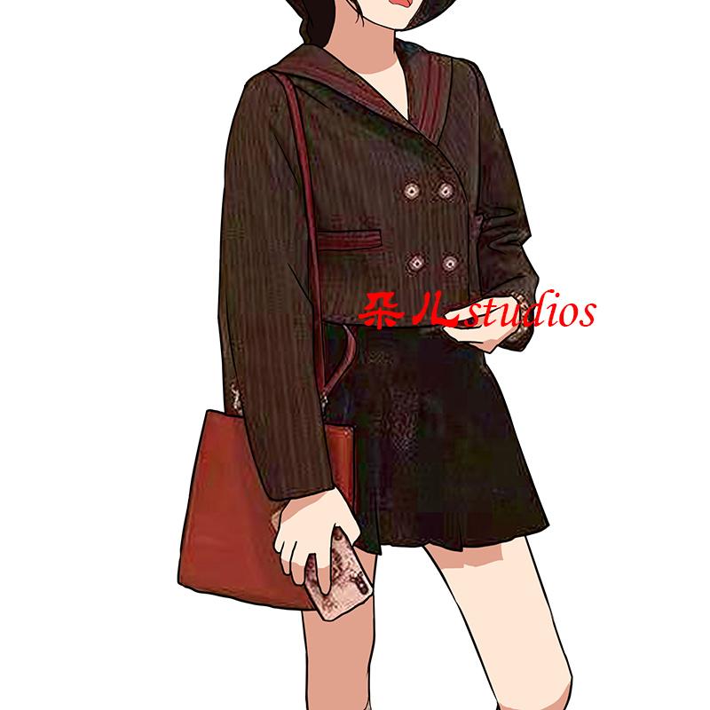 大Eees西装短外套女春秋韩版宽松英伦风减龄水手上衣短款小西服