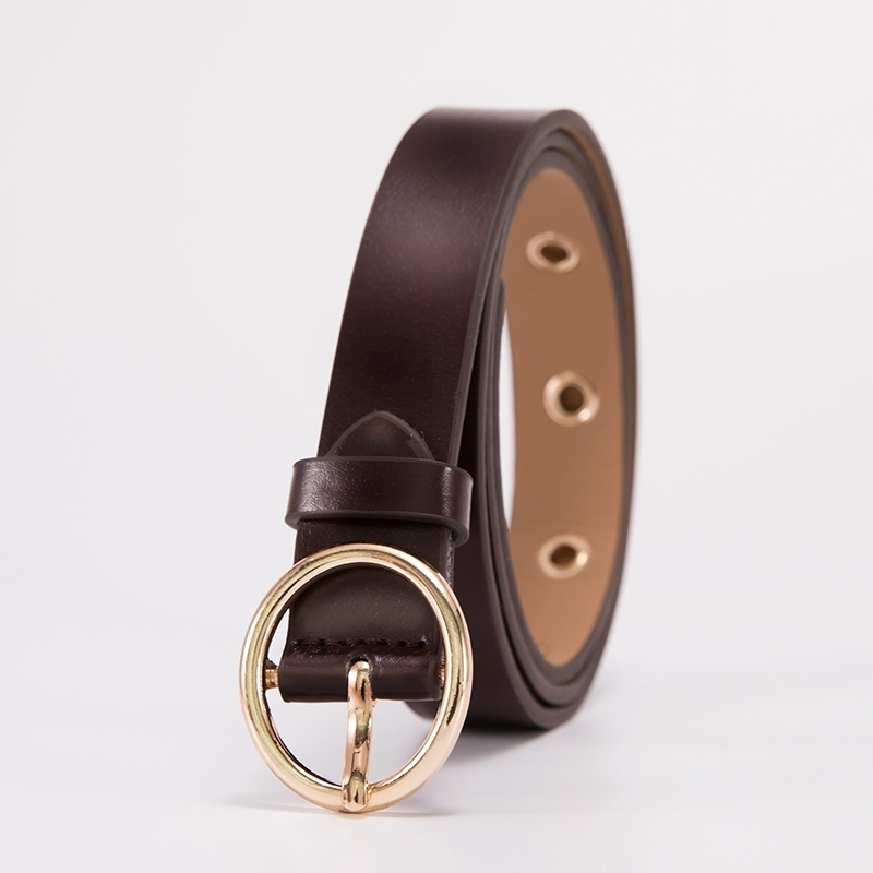 ML-12-ROUND BUCKLE-BROWN