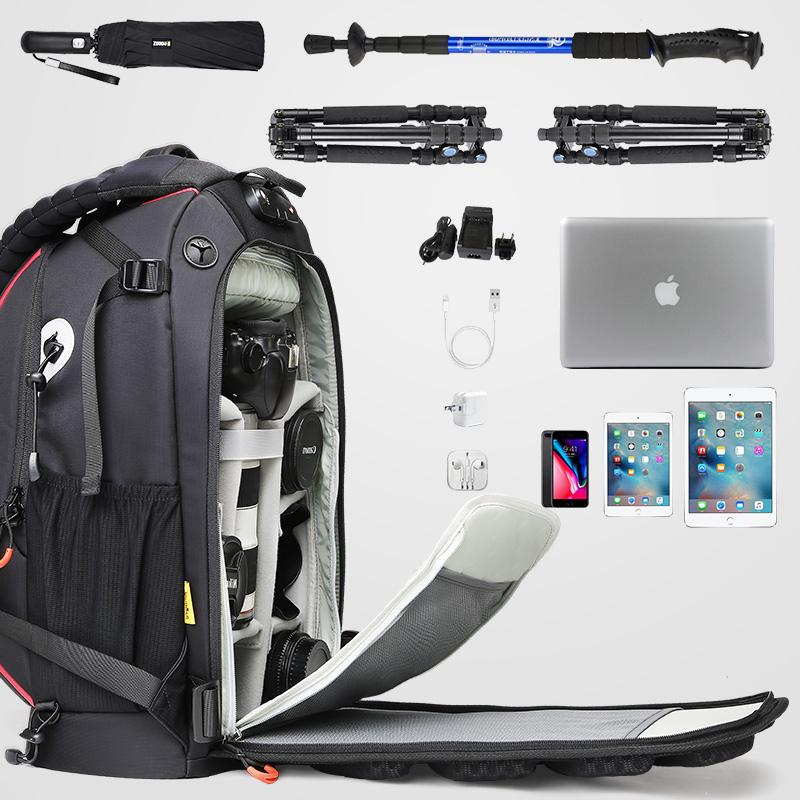 安诺专业摄影双肩大容量多功能户外男女旅行佳能尼康单反相机背包