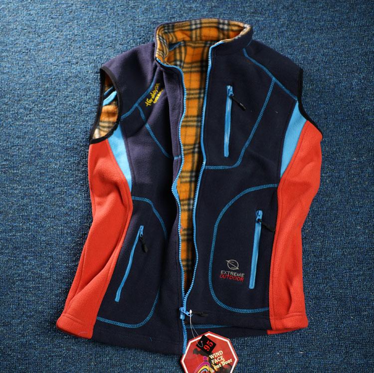 Внешняя торговля дух на открытом воздухе xl мужской деньги плюс толстая шерсть жилет смешанные цвета мягкая оболочка шерсть жилет CG1-K675