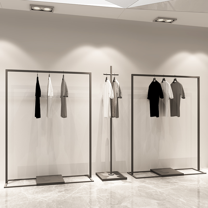 usd 18 95 iron simple clothing rack men and women clothing store rh chinahao com Closet Shelves and Racks Wall Mounted Shelves Clothing