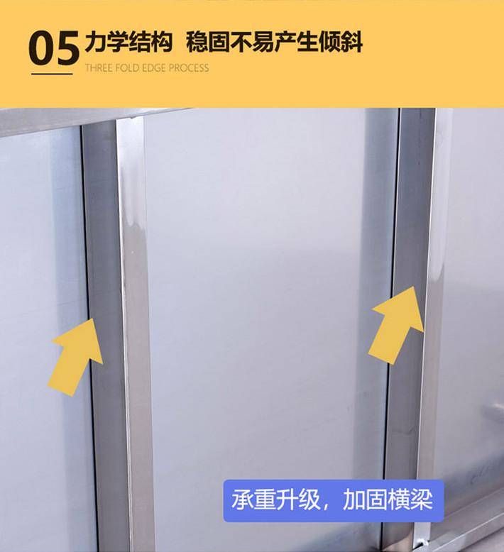 不锈钢厨房整体橱柜置物架落地三层多功能微波炉收纳置物架家用锅菜架详细照片