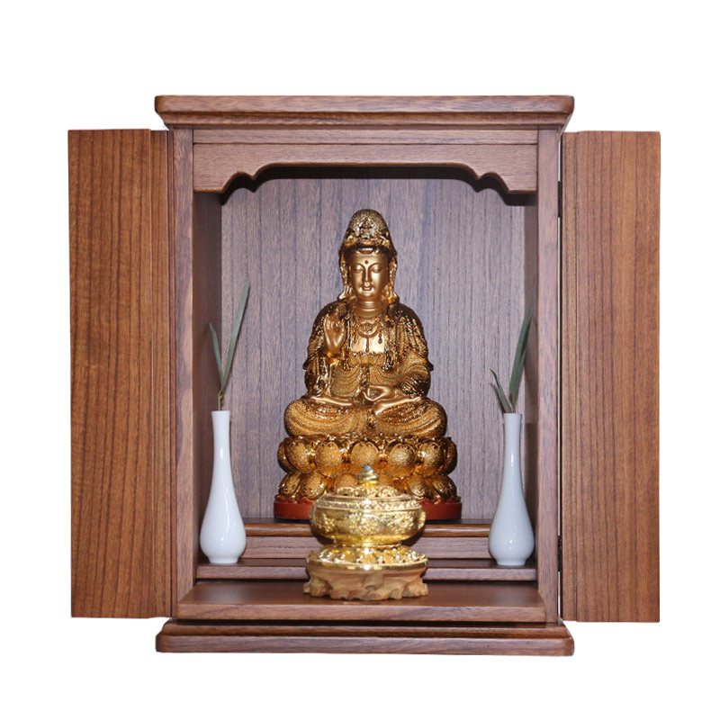 Solid Wood Door Guanyin Fortuna Modern Minimalist Small Buddha 龛 For Taiwan  Household Wall Cabinet God ...