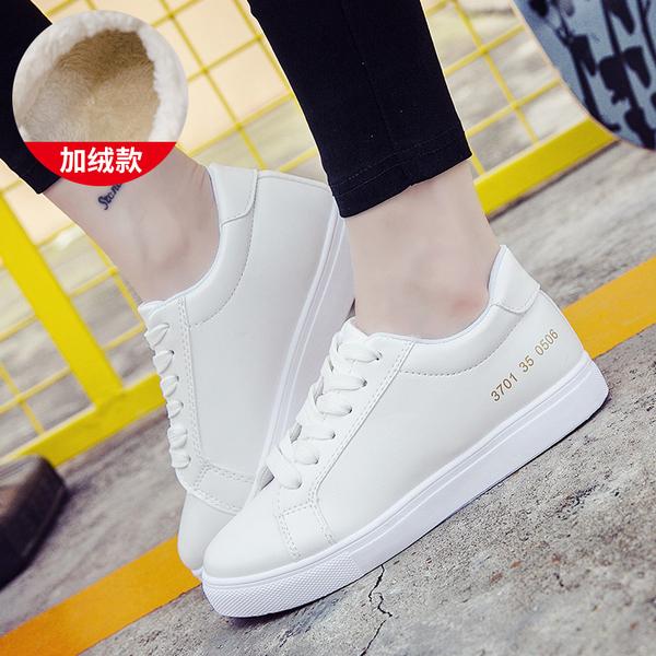2020 год зимний осенний новинка взрыв моделей осенью и зимой небольшой плюс кашемир белая женщина обувной дикий студент мокасины квартира обувь белые туфли