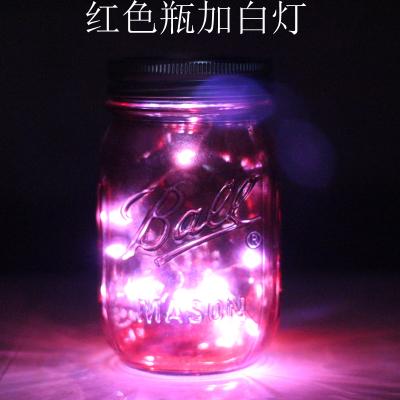 Красный Бутылка плюс белый свет