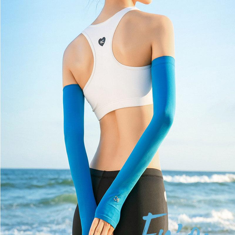 VVC夏季防晒冰袖套防紫外线女士薄款冰丝手袖护臂开车骑车遮阳男