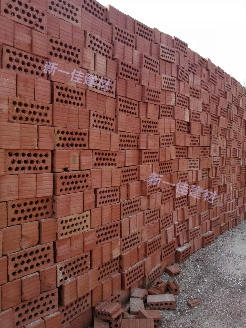 Chengdu City Masonry Materials Red Brick Round Hole Perforated Northwest Area 1000 Sent From Each