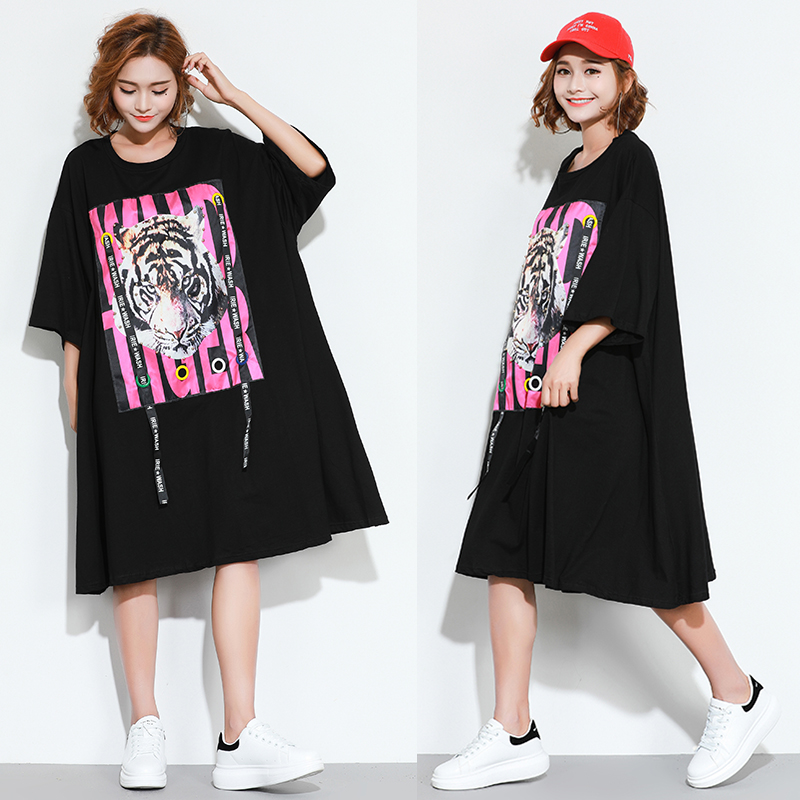 300斤超大码女装软妹200韩版短袖T恤加肥加大260斤胖mm240斤夏装