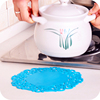 Creative round silicone insulation pad coaster lace flower tea coaster slip coaster bowl mat mat placemat