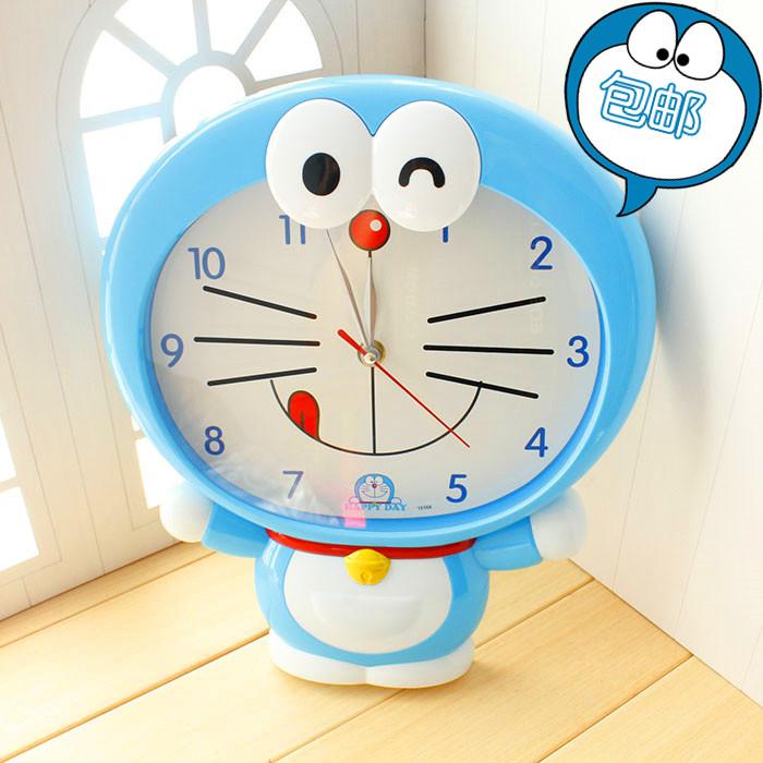 usd 13 77 doraemon cute wall clock ultra quiet children s room wall