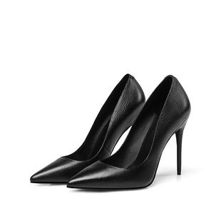春夏新款黑色尖头女鞋百搭高跟鞋女