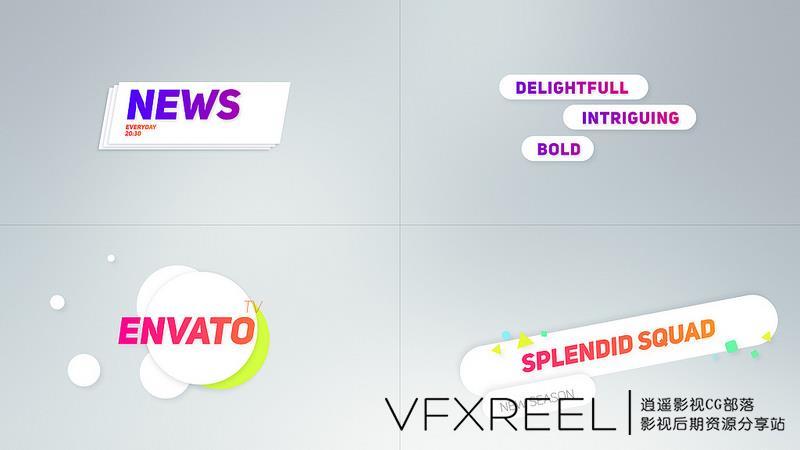 AE模板:25组电视频道包装专用导视窗节目预告版权下三档字幕条包装模板 - 第3张  | VFXREEL-逍遥影视CG部落
