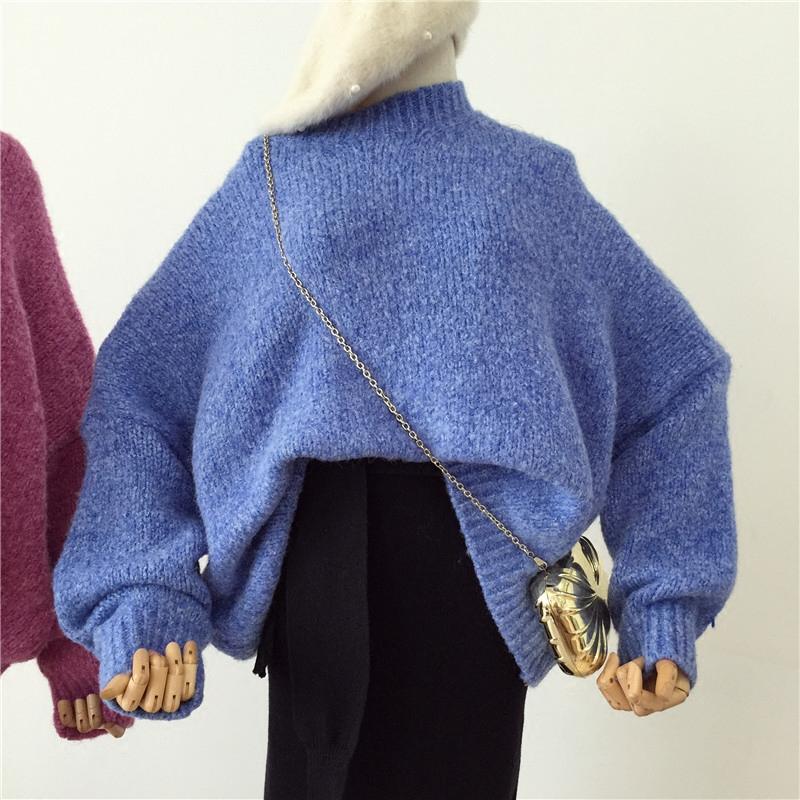 兔毛毛衣女宽松韩版秋冬2017新款套头学生可爱长袖百搭打底针织衫