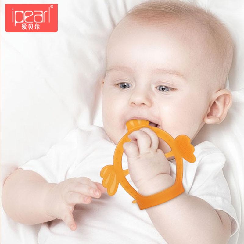 爱贝尔牙胶磨牙棒婴儿手环牙胶宝宝防吃手神器咬牙硅胶可水煮玩具