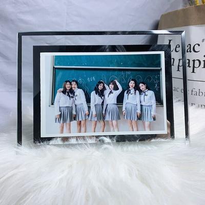 水晶玻璃相框摆台7寸5七寸6图8洗照片定制做成相册摆件像架冲印加